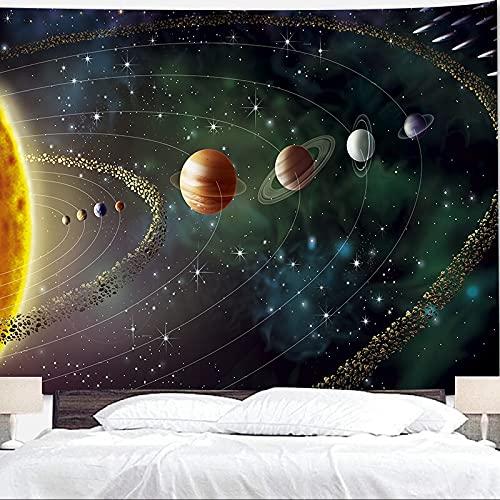 Tapiz planetario espacio exterior galaxy universo colgante de pared dormitorio sala de estar decoración del hogar dormitorio tapiz A6 180x200cm