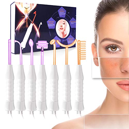 Máquina facial de alta frecuencia TwoWin, 7 electrodos Gas argón Violeta Gas neón Naranja Belleza Cuidado de la piel Acné Manchas Quita espinillas Estiramiento facial Lifting Terapia hinchada