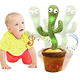 Emoin Dancing Cactus,Talking Cactus Toy,Sunny The Cactus Repeats What You Say,Electronic Dancing Cactus Toy with Lighting,Singing Cactus Recording and Repeat Your Words,Cactus Mimicking Toy for Kids