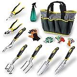 MKYRLX Juego de herramientas de jardín de 12 piezas para jardinería, juego de mantenimiento de jardín de acero inoxidable, juego de herramientas de jardinero.