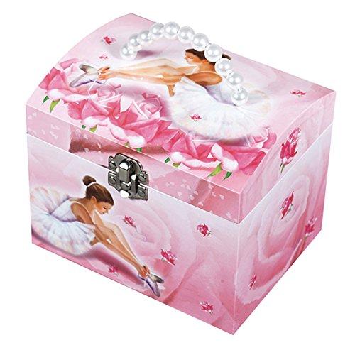 Original Trousselier Paris TROUS90974 Trousselier - Ballerina - Musikschmuckdose - in Form eines Kosmetikkoffers - Ideales Geschenk für junge Mädchen - Musik Kommt erst ein Prinz zu mir - Farbe rosa