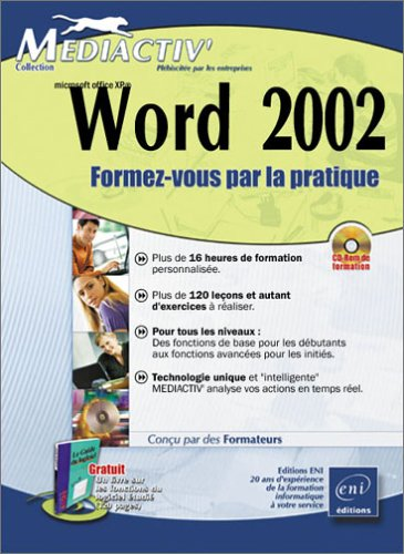 Word 2002 (1 manuel d'accompagnement + CD-Rom)