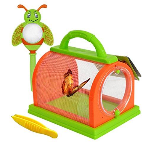 YAHAMA Insektenhaus für Kinder Insektenbox Insekten Forschen Insekten Käfig mit Lupe