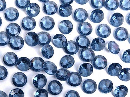 Butterfly 100 Diamants en Plastique pour Decoration de Table Mariage Ceremonie (Bleu Marine)