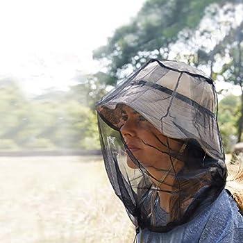 KATOOM Chapeau Anti Moustique Protection de Tête 2 PCS, Chapeau de Abeille en Filet Anti Insecte Abeille Casque, Activités de Plein air Pêche Randonnée Camping Jardinage Jungle d'été Vert/Noir
