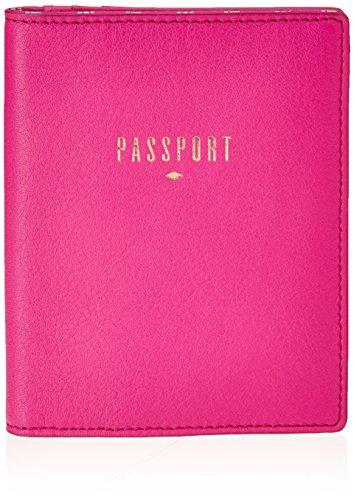 Fossil Damen Passport Ausweishülle, Pink (Hot Pink), 1.27x13.97x11.43 cm
