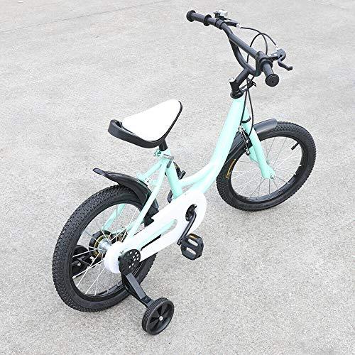 Wangkangyi Bicicleta infantil Jasemy de 16 pulgadas, para niños, con tecnología de doble frenado, alambre de acero, verde, unisex