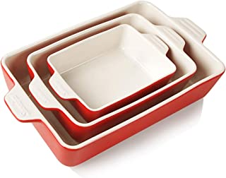 SWEEJAR Ceramic Bakeware Set, Rectangular Baking Dish Lasagna Pans for Cooking, Kitchen, Cake Dinner, Banquet and Daily Us...