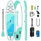 Bessport Tabla Paddle Surf Hinchable, Stand-up Paddle Surf de Sup, 335x82x15cm, Carga hasta 150kg,...