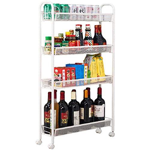 YouYou-YC Kleine trolley IKEA gewatteerd rek met wielen verwijderbare koelkast smalle spleet side opslag rack kloof opslag rack