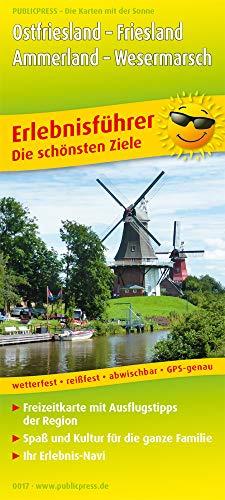 Ostfriesland - Friesland, Ammerland - Wesermarsch: Erlebnisführer mit Radrouten und Informationen zu Freizeiteinrichtungen auf der Kartenrückseite, ... reißfest, abwischbar, GPS-genau. 1:170000