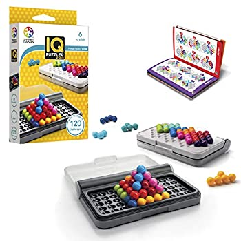 SmartGames IQ Puzzler Pro a Travel Game for Kids and Adults a Cognitive Skill-Building Brain Game - Brain Teaser for Ages 6 & Up 120 Challenges in Travel-Friendly Case.
