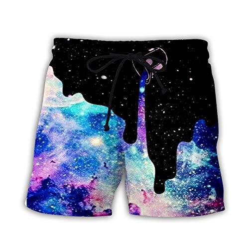 hezeyang Pantalones cortos casuales para hombre con estampado en 3D