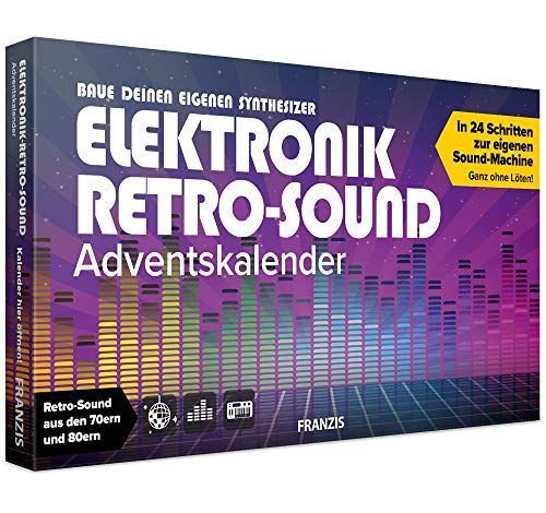 FRANZIS Elektronik Retro-Sound Adventskalender 2020 | Retro-Sound aus den 70ern und 80ern | Ab 14 Jahren