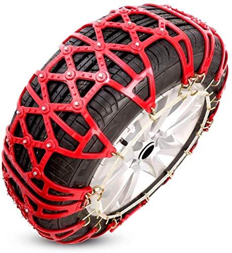 WYJW Cadenas de Nieve para automóviles Cadenas de Ruedas universales Cadenas de neumáticos Cadena de tracción de neumáticos, fácil de Montar, Antideslizante para neumáticos, tracción de