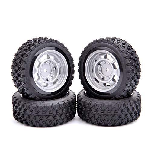 MENGzhuHSA Modelo de neumático de Coche 4pcs / Set Escala 1:10 Rally Neumáticos llanta de la Rueda con 6 mm Offset y 12 mm Hex Fit Rally de Goma RC Racing Car Model Piezas para niños Manualidades