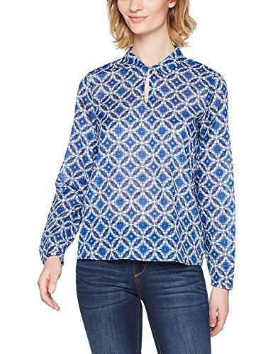 ESPRIT Damen 028EE1F005 Bluse, 410/BRIGHT Blue, 44
