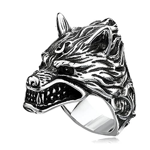 Anillos de acero inoxidable, Anillo Fenrir de lobo monstruoso nórdico vikingo