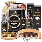 Beard Kit for Men Grooming & Care W/Beard Wash/Shampoo,2 Packs Beard Growth Oil,Beard Balm Leave-in Conditioner,Beard… 2