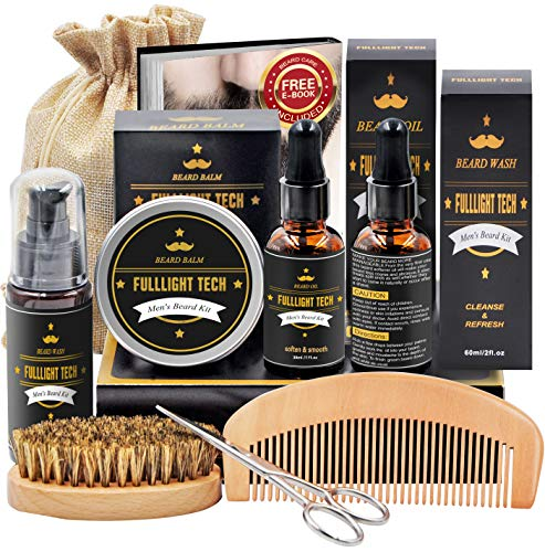 Beard Kit for Men Grooming & Care W/Beard Wash/Shampoo,2 Packs...