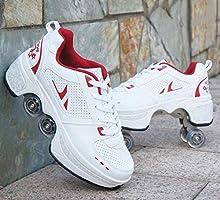 NOLLY Rolschaatsen Rolschoenen Wiel Schoenen Roller Sneakers Schoenen Intrekbare Skateboarden Rollerblades