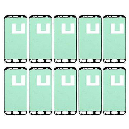 runqimudai Reparación de renovación para protección de Pantal 10 PCS iPartsBuy for Samsung Galaxy S7 / G930 Frontal de la Carcasa Adhesiva Accesorios