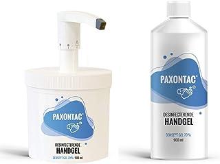 Paxontac Desinfecterende Handgel - 500 ml met Hervulbare Pomp + 900 ml Navulling - Grootverpakking - Droogt snel en plakt ...