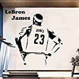 Baloncesto pegatinas de pared calcomanías de vinilo para habitación de niños decoración de dormitorio Michael Jordan Stephen Curry LeBron James Lakers 43 * 46cm