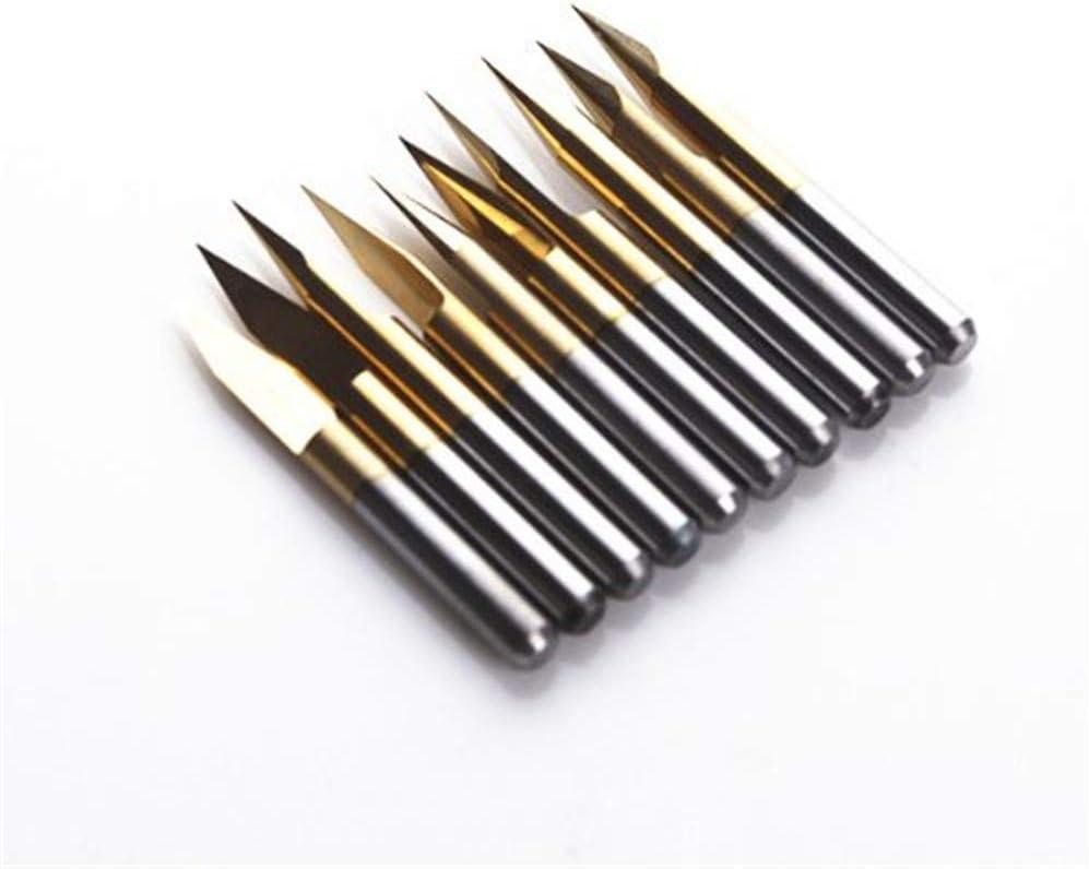 SHINA 10x 55% OFF Titanium Coated Carbide Bombing free shipping PCB Engraving CNC Bit T Router