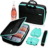 ACOVE Ultra Slim Cooler Bag | Insulated Leakproof | Can Cooler Sleeves & Beer Bottle Cooler Sleeves Set of 4 | Golf Cooler Bag for Beer, Wine | Daytrip Flat Cooler Lunch Bag for Women & Men