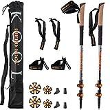 ihero-kool _rivoluzione 2020_ bastoncini da trekking & nordic walking | racchette telescopico pieghevole regolabili professionali | passeggio guantini accessori ultraleggeri | donna uomo bambino
