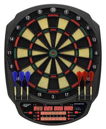 Carromco Cible De Fléchettes Électronique-e Striker-601, Elektronisches Dartboard, Black, red, Green, Yellow, 41,7 x 52 x 3,2 cm