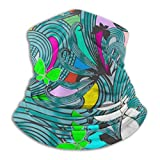 fuyon Neck Headband Fantasy Colorful Floral Seamless Pattern Outdoor Sport Balaclava Magic Headband Neck Warmer Gaiter