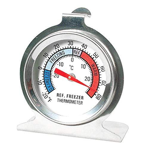 NLLeZ 1pc Réfrigérateur thermomètre en Acier Inoxydable réfrigérateur congélateur thermomètres de Cuisine réfrigérateur Température Compteur Type de Cadran Type D25 (Couleur : Blanc)