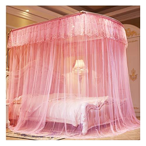 GWX klamboe voor bed (1,8 m x 2,0 m) Europese stijl ter voorkoming van muggennetten, ter bescherming van de huid, vloer van roestvrij staal