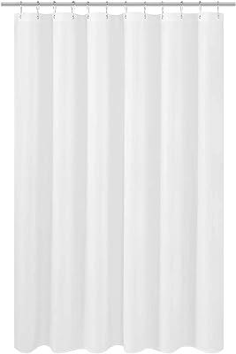 シャワーカーテン 風呂カーテン 防カビ 防水 軽量 速乾 お風呂用カーテン リング付 高級感あり 120x180cm ホウイト