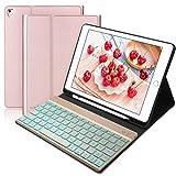 BORIYUAN Tastatur Hülle für iPad 2018 - iPad 2017 -