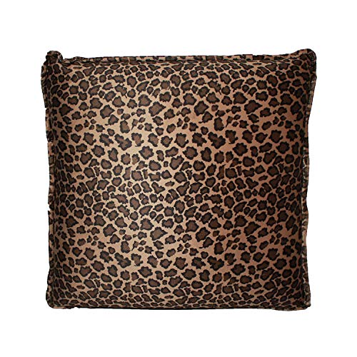 HealthmateForever Vibrating Massage Relaxation Pillow | Best Pillows for Back and Neck Pain | Sciatica Nerve Cushion to Relieve Sciatic Pain (Small Leopard)