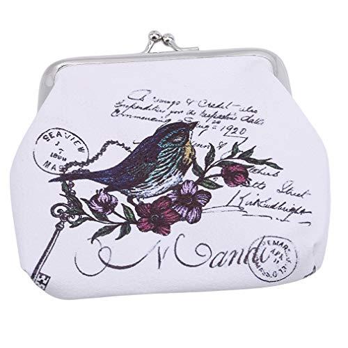 CAVIVIVIUK - Monedero para mujer, diseño de animales, pu, Birdie, As description