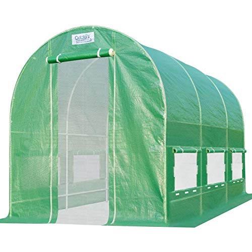 Quictent 2 Mesh Doors Portable Greenhouse Large Green Garden Hot House Grow Tent 12'X 7'X 7'