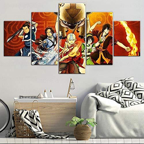 5 Piece Canvas Imagen De Panel De Imagen Retrato De Cabeza Para Pintura De Lienzo Neumática Póster Japonés Pintura De Lienzo Sin Marco