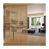 16LYP - Cortina de cuentas de madera para puerta, divisor de habitación, divisor retro, para balcón, adorno para colgar adornos transpirables, tamaño personalizable, madera, B, 60 strands- 120cmx180cm