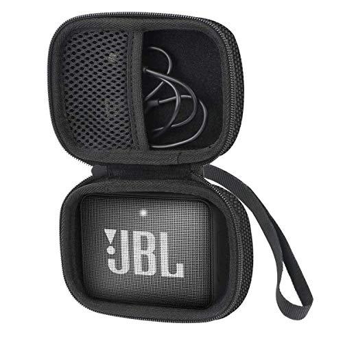 Khanka Tasche Case Schutzhülle Für JBL GO 2 GO2 kleine Musikbox portabler Bluetooth-Lautsprecher.(Für JBL go 2, Schwarz Reißverschluss)