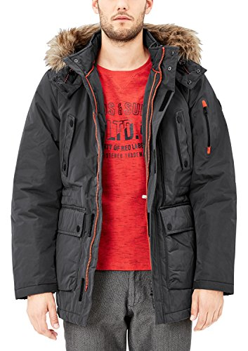 s.Oliver Herren 28710517321 Jacke, Grau (Grey/Black 9581), Medium