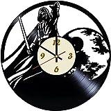 Star Wars Galaxy Darth Vader - Reloj de pared de vinilo con diseño de galaxia Darth Vader, decoración única para el hogar, ideas de regalo para él y ella