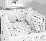 Lot de 3 housses de couette pour bébé 90 x 120 cm avec drap housse et tour de lit - 6 housses en velours pour lit bébé 60 x 120 cm