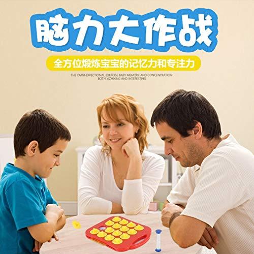 FOY Juego de Entrenamiento de Memoria para niños Rompecabezas de ajedrez Rompecabezas de Madera Montessori de Dibujos Animados Multicolor