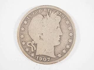 1907 S Barber Half Dollar Half Dollars Ungraded