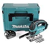 Makita DJV 180 T1J - Sierra de calar con batería de 18 V + 1 batería de 5,0 Ah + Makpac – sin cargador