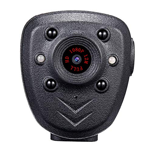 Read About WQYRLJ HD 1080P Police Body Lapel Worn Video Camera DVR Night Visible LED Light Cam 4-Hou...